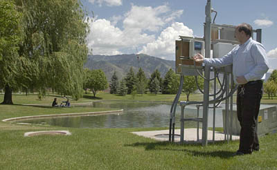 By using real-time weather information by linking up to live weather stations throughout the Wasatch Front, Irrisoft's Weather Reach Receiver's automatic sprinkler systems