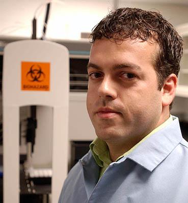 So far, Ugo Perego has collected 40,000 DNA samples, toward the goal of 500,000.