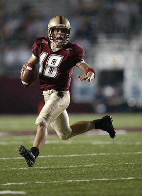 Former Snow quarterback Paul Peterson is thriving at Boston College. He rallied BC over Notre Dame last week.
