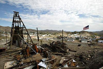 ; A now-abandoned mine was once the most well-known thing about Searchlight, Nev., hometown of U.S. Senate Minority Leader-elect Harry Reid.