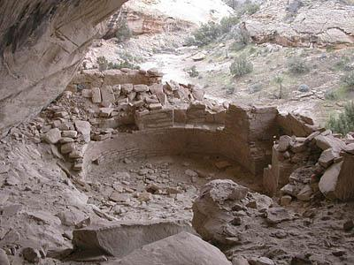 Ruins such as this cliff dwelling near Blanding are in danger of disappearing forever as weather, time, and human visitation take their toll.
