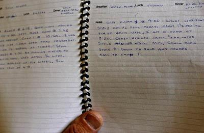 ; Dan Smith reads from a log he kept during his recent trip to the Andes. Smith wrote: