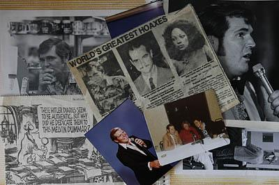 Melvin Dummar's scrapbook includes reminders of his singing career throughout Nevada, a still of his role in the 1979 movie