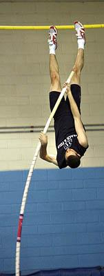 BYU pole vaulter Robbie Pratt appears to have the tools needed to break the world indoor record of 20 feet, 2 inches.  It really is just a matter of time,  Pratt said.  I probably need to get a little faster, a little bit stronger.