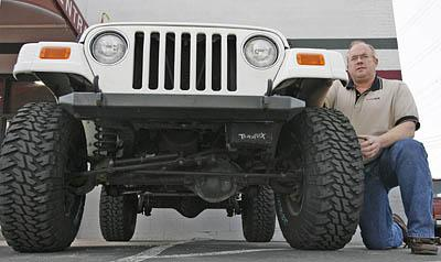 Mark Falkner, of Tera Manufacturing, has years of experience working on Jeeps.