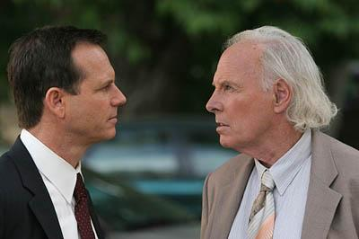 Bill Paxton, left, and Bruce Dern play polygamous son and father in the HBO series,