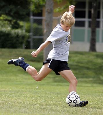 Brighton's Mike Nielsen is one of many Utah teens who get their kicks on a club soccer team.