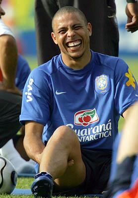 Famed striker Ronaldo prepares for the upcoming 2006 Soccer World Cup in Germany.