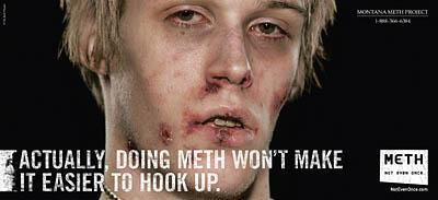 This gritty anti-meth advertisement, developed for use in Montana, is part of a campaign Gov. Jon Huntsman Jr. wants to bring to Utah.