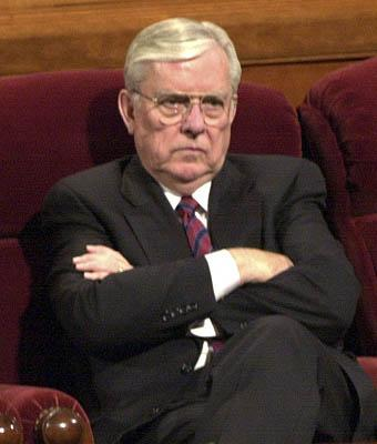 M. Russell Ballard photographed during the 2001 LDS Conference.