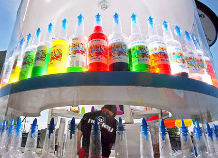 TANYA: Snow shaved ice bottles