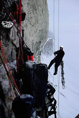 Drew Wilson tackles the 2,400-foot face of a cliff he, Kyle Dempster and Pete Dronkers decided to climb.