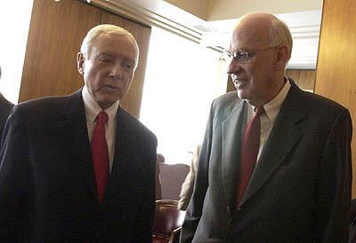 Salt Lake City - Senator Hatch and Bennett address the Utah Senate.