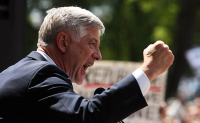 Salt Lake City Mayor Rocky Anderson speaks at a rally Wednesday against  the war in Iraq and Bush administration policies.