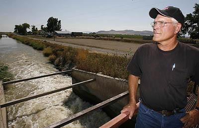 Charles Holmgren farms in Box Elder County is using water from the Corrine Canal. He has noticed that spring runoff comes down the canal earlier than it used to. ''But when crop time comes around in June and July, you really need that water,'' he says.