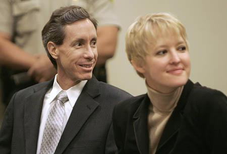 Warren Jeffs reacts to seeing supporters in the gallery during his preliminary hearing as he sits next to his attorney, Tara Isaacson Thursday in St. George.
