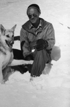 Ed LaChapelle in Alta circa the 1940s.