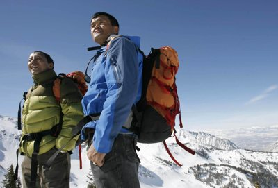 Apa Sherpa, in green, and Lhakpa Gelu Sherpa are leading an expedition this spring to climb Mt. Everest. They both live in Salt Lake City and are both record-holders on Everest -- Apa has summitted 16 times and Lhakpa holds the fastest time from base camp to the summit.