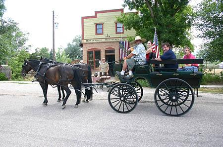 Visitors enjoy a carriage ride in Spring City. Heritage Day (May 26) will feature a tour of historic homes.