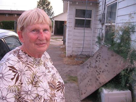Betty Perry, 70, was arrested and her nose bloodied after an Orem officer confronted her at her front door about her dried-up lawn.