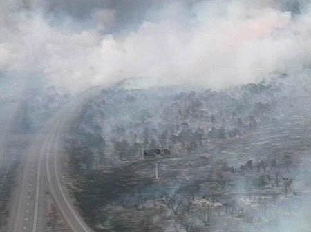 The Milford Flat fire forced the closure of a 95-mile stretch of Interstate 15 on Saturday.