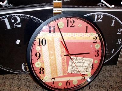 Products we like: Heidi Swapp Clock Overlays, $2.99