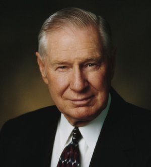 James E. Faust, the 87-year-old second counselor to LDS President Gordon B. Hinckley, died today. He was 87.