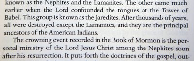 Second paragraph of the introduction to the Book of Mormon that says