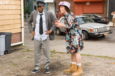 Mos Def (left) stars as Mike and Jack Black (right) stars as Jerry in New Line Cinema s upcoming release of Michel Gondry s