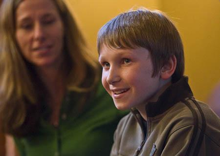 Glad to be home, Max Zilvitis, 11, talks Thursday about his harrowing avalanche experience Sunday at The Canyons.