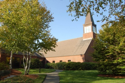 The LDS meetinghouse in Belmont, Mass., where Mitt Romney served as bishop. He later conducted a landmark meeting there with women of the stake where he presided.