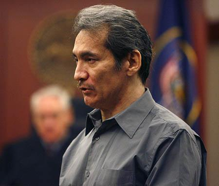 Floyd Maestas addresses the jury at the Matheson Courthouse in Salt Lake City on Friday during his trial for the 2004 murder of a 72-year-old woman.