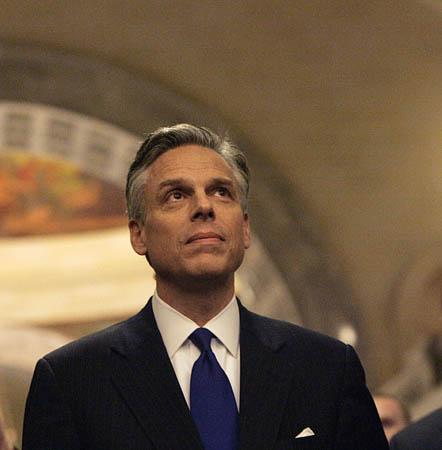 Utah Gov. Jon Huntsman Jr., arguing that the spectre of national health care reform should be an impetus to get the job done fast.