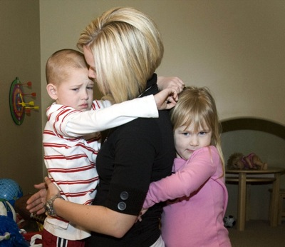 Tara Skaggs and her children, 6-year-old Jake and 3-year-old Abbie, are learning to cope without their husband and father. Utah Blaze star Justin Skaggs died of a brain tumor last June.