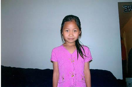 The South Salt Lake Police are looking for Sernermoo, a 7 year old Asian girl.  She is 3 foot 8 inches tall, 45 lbs, long black hair, and is missing her two front teeth.  She was last seen wearing a pink coat, blue jeans, and black and pink sneakers. Sernermoo was last seen today at 2 P.M. in the area of 2250 South 500 East.