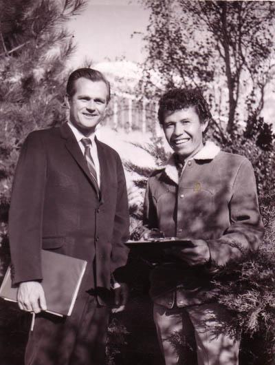 Larry Dean Olsen and Ezekiel Sanchez in the late 1960s.