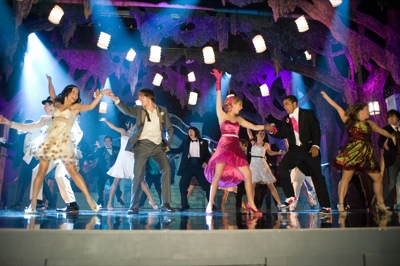 Left to right: Vanessa Hudgens, Zac Efron, Ashley Tisdale, Jason Williams in
