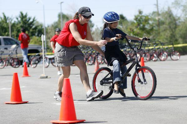 Bikes For Kids Utah ride through a bike safety