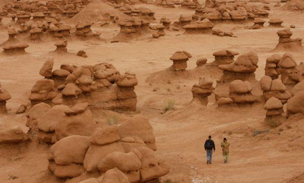 Goblin Valley's rock formations.