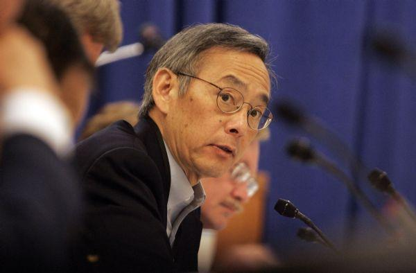 Secretary of Energy Steven Chu addresses the panel about climate change during the Western Governor's Association meeting Monday, June 15, 2009 at Deer Valley in Park City.