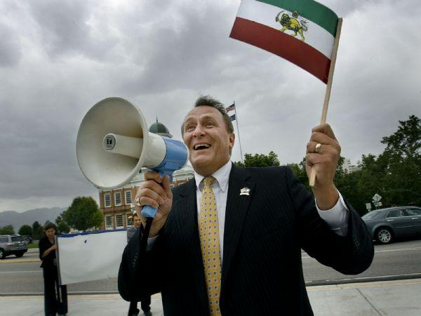 Scott Sommerdorf/The Salt Lake Tribune  Utah Attorney General Mark Shurtleff spoke in support of the crowd of people who marched from the City and County Building to the State Capitol in support of protesters in Iran.