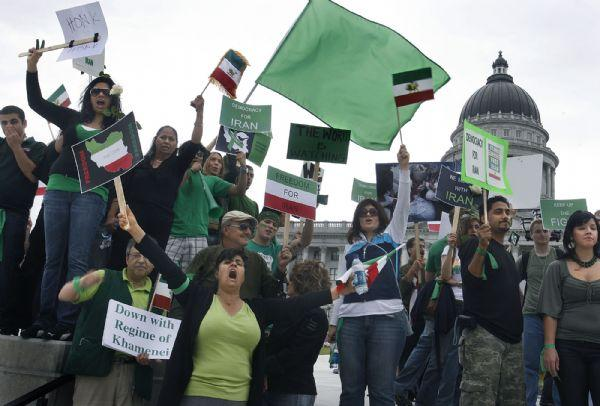 Supporters of  the protestors in Iran rallied at the State Capitol after their march from the City and County Building. The rally in support of protesters in Iran, culminated in a march to the State Capitol and a brief appearance by Utah Attorney General Mark Shurtleff.