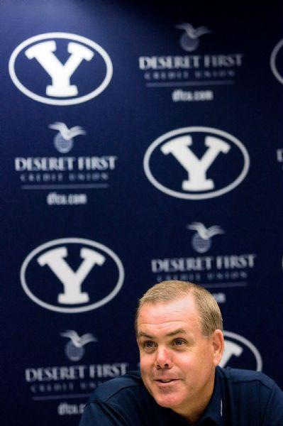 BYU men's basketball coach Dave Rose addresses questions regarding his cancer, during a news conference Wednesday, June 24, 2009, in Provo, Utah. Rose says he appears to be free of cancer and plans on being back next season. Rose underwent emergency surgery earlier this month, when doctors removed his spleen and a mass that tested positive for cancer. (AP Photo/The Daily Herald, Mark Johnston)