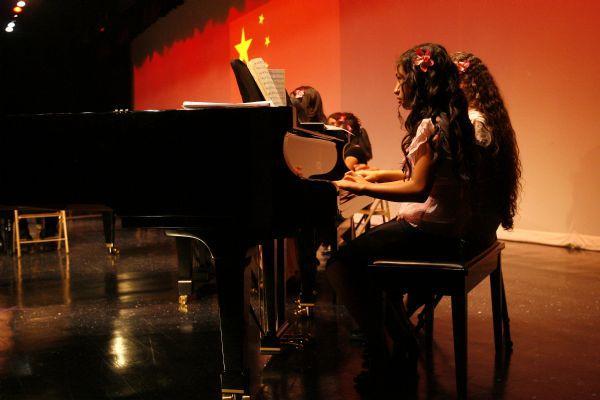 Mabel Harris, 13, performs