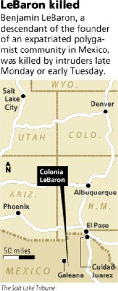 Colonia Lebaron Mexico Map.Two With Polygamous Roots Gunned Down In Mexico The Salt Lake Tribune
