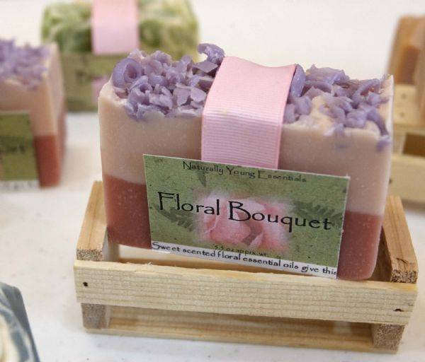 Dianna Peine, left, and Roxanne Johnson, of Colorado City, sell their handmade soaps under the label Naturally Young Essentials.