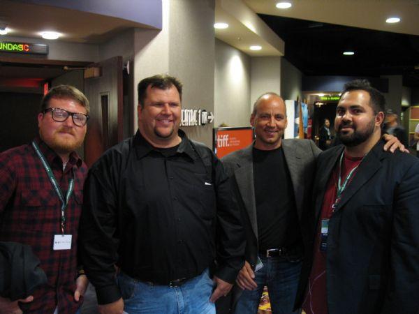 From left, co-director Andrew James, CleanFilms Founder Robert Perry, UVU professor Philip Sherman Gordon, co-director Joshua Ligairi in Toronto.