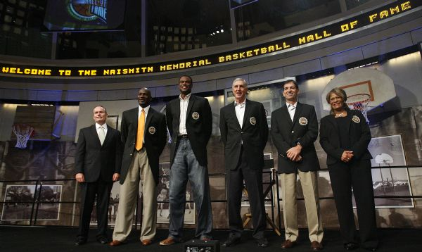 John Doleva, president and CEO of the Naismith Memorial Basketball Hall of Fame, joins Michael Jordan, David Robinson, Jerry Sloan, John Stockton and Vivian Stringer as the induction ceremonies begin Friday.