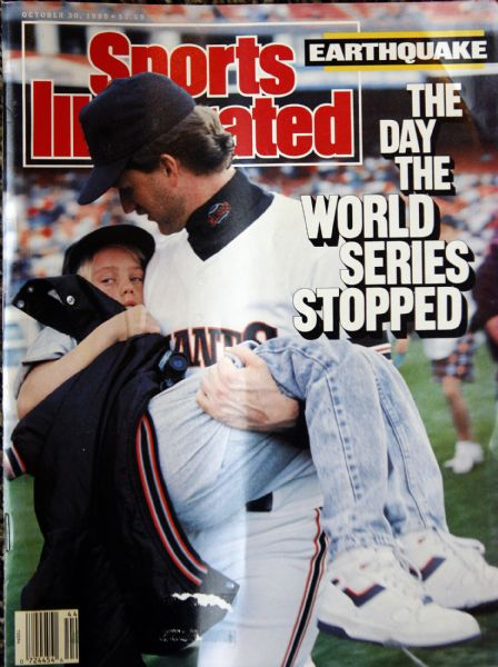 20 years ago, in October 1989, when the earthquake in San Francisco halted the World Series, Centervile's Kelly Downs, a Giants pitcher, was pictured on the cover of Sports Illustrated, carrying his 11-year-old nephew off the field.