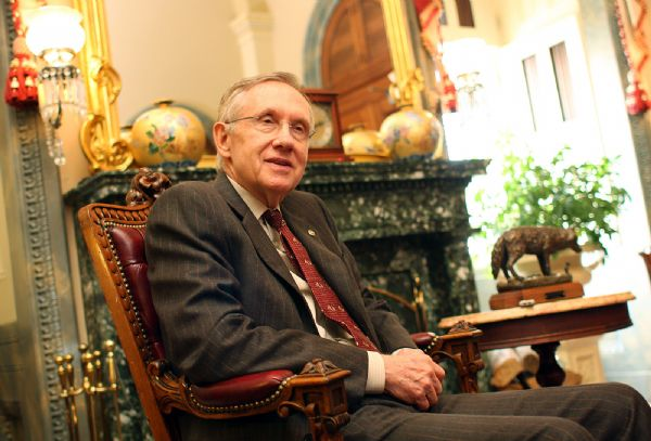 Senate Majority Leader Harry Reid, D-Nev., takes some time in his Capitol office to discuss his Mormon faith and how it relates to his public service. His criticism of the LDS strong public role in California's Prop 8 anti-gay marriage law have drawn fire from members who question his faith.